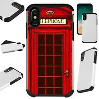 FusionGuard For iPhone 6/7/8 PLUS/X/XR/XS Max Phone Case RED PHONE BOOTH