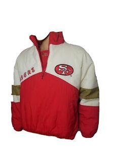 Vintage San Francisco 49ers Niners Puffer Jacket Coat VTG Pro Player Embroided