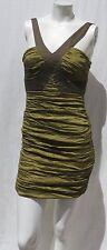 $348 BCBG MAXAZRIA Peridot Green Taffeta Simsom Cocktail Party Dress size 0 2 XS