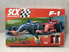 SCX COMPACT F1 1:43 SCALE SLOT RACING FORMULA 1 SUPERSPEEDWAY RACE TRACK (read)