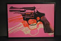Andy Warhol Style Revolver Art Framed - 8 3/4x12x2