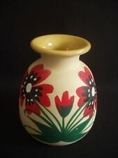 INTERESSANTE VASO/POT ~ hand made in Egina Grecia ~ decorazione floreale