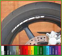 8 x BUELL Wheel Rim Stickers Stripes - lightning firebolt ulysses xb 900 1200