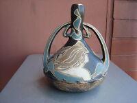 """Owens Henri Deux 8.5"""" Nouveau Woman Vase"""