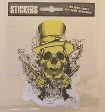 """NEW - """"Skull With Six Shooters"""" -  Die Cut Sticker - NEW"""