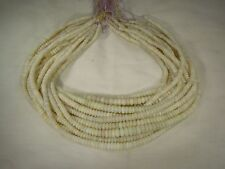 "BUTW Natural Australian Opal Rondelle 16"" Graduated Beads Strand Necklace 9588C"