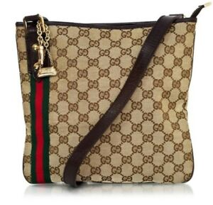 Authentic Gucci Jolicoeur Charm Messenger Bag