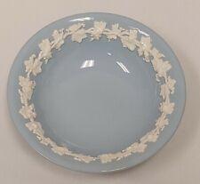 "New Listing Wedgewood Barlaston Etruria Blue Embossed Queens Ware Dessert Bowl 6.25"""
