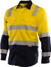 Workhorse HI-VIS BIO MOTION VENTED SHIRT MSH032 Yellow/Navy- Size S, M, L Or XL
