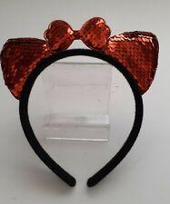 GIRLS SEQUIN CAT EARS HEADBAND metal Hair Band Fancy Costume Party Cosplay UK