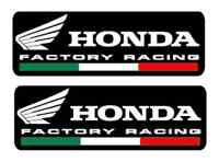 2 Adesivi / Stickers HONDA FACTORY RACING moto Casco Tuning RC-V CBR HRC CB