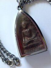 Vintage Buda Amuleto Colgante Collar