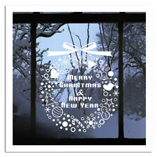 Merry Christmas Gift Wreath Wall Window Stickers Decals XMAS Home Shop Decor