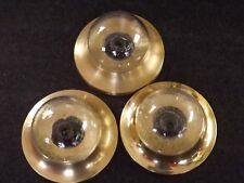 3 Deckenlampe Wandlampe Leuchte Lampe Glas Messing Retro