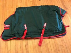 "Rambo Horseware Ireland Original Turnout Blanket 66"" 5'6"" 1000D 400g Green & Red"