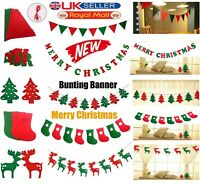 Xmas Pennant Flag Multi Coloured Bunting Plastic Banner Party Decoration Outdoor