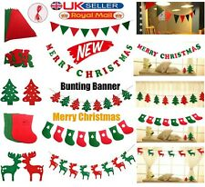 3M Christmas Pennant Party Decoration Flags Banner Bunting Stocking / Reindeers