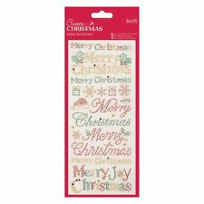 Docraft Papermania Glitter Dot Stickers -Christmas Text for cards and crafts