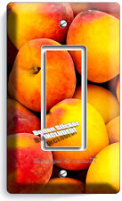 RIPE PEACHES SINGLE GFCI LIGHT SWITCH WALL PLATE DINING ROOM KITCHEN FRUIT DECOR