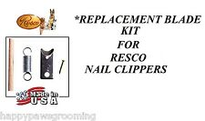 REPLACEMENT BLADE Set/Kit for All RESCO NAIL TRIMMER CLIPPER Cutters 747 727,etc