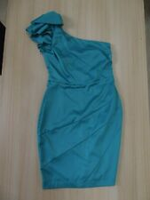 Lipsy One Shoulder Teal Satin Dress Size 10 BNWT