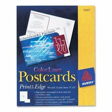 """Avery® Color Laser Postcards, 4"""" x 6"""" Uncoated, 80 Cards"""