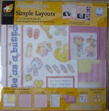 """American Traditional Designs simples diseños Bebé Niña Kit de Scrapbook Papeles 12"""""""