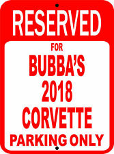 "Corvette Chevrolet Personalize Novelty Reserved Parking Street Sign 7""X10"""