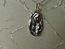 SOLID STERLING  SILVER PENDANT MADONNA MARY ,HAND MADE BY ME.