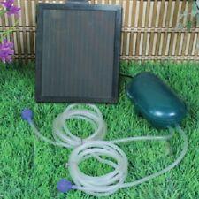 Solar Powered Water Garden Pond Air Pump 52GPH (200LPH) Pump w/Battery Back up