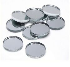 3/4 inch ROUND MIRROR GLASS TILES - 25 COUNT - GREAT FOR MOSAICS AND JEWELRY