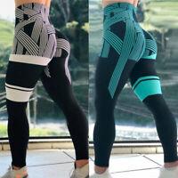 Women High Waist Yoga Pants Push Up Sports Fitness Leggings Active Wear Running
