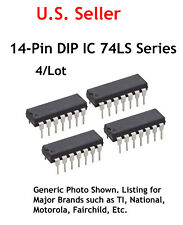 74LS08 Low-power Schottky TTL 14 Pin DIP IC: Quad 2-Input AND Gate: 4/Lot