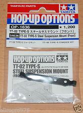 Tamiya 54636 TT-02 Type-S Steel Suspension Mount (Front)(TT02 Type-S Drift), NIP