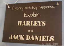 Harley Davidson and Jack Daniels Sign - Biker Bar Garage Motorcycles Man Cave