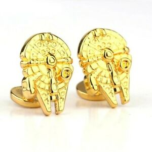 Gold Star Wars Falcon Cufflinks Formal Wedding Business Gift for Suit Shirt