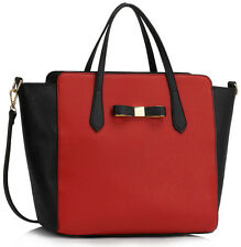 LeahWard Large Bow Bag For Women Handbag For College School Holiday Work