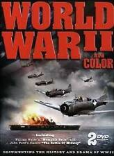 World War II In Color 2 DVD SET BRAND NEW FREE SHIP HISTORY DRAMA BATTLE MIDWAY