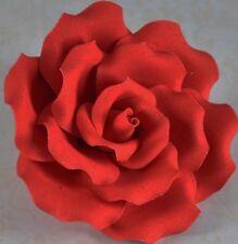 Extra Large Red Rose Sugar flower wedding birthday cake decoration topper