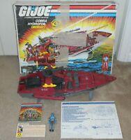 Lot 1985 GI Joe Cobra Moray Hydrofoil Lampreys Box Blueprints Part Piece Repair