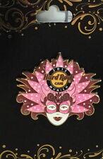 Hard Rock Cafe MUNICH 2015 MARDI GRAS PIN Carnival Series Pink MASK with Stone