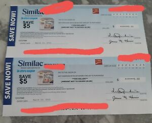 Similac Checks Worth $10