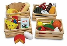 Melissa & Doug Food Groups Set Wooden Educational Toys X2 Baskets Only