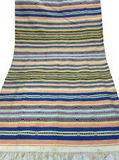 "Om Vintage Indian 100% Cotton Thread Woven Carpet Size- 80"" / 43"" C12"