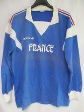Maillot Equipe de FRANCE porté entrainement training ADIDAS vintage shirt coton