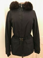 Genuine PRADA Women's Ski / Waterproof Fur Trim Jacket - Black - Size 40