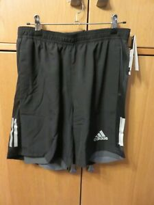 """ADIDAS FS9809 Own The Run Shorts - 2 in 1 - Black - Size M, 7"""" - NEW + Tags"""