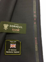 """DORMEUIL """"Iconik Nano"""" Navy two tone Super 120's 100% Worsted Wool Suit Fabric"""