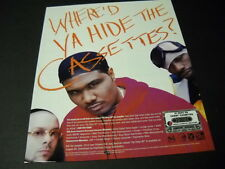 CRU Hip-Hop Rappers want to know WHERE'D YA HIDE THE CASSETTES 1997 Promo Ad