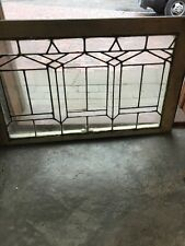 Sg 1316 Antique Leaded Glass Transom Window 21 And Three-Quarter By 35 Inch